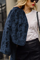 Fashion A Lapel Plain Casual Jacket