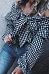 Off Shoulder  Bowknot Flounce  Gingham  Lantern Sleeve Blouses