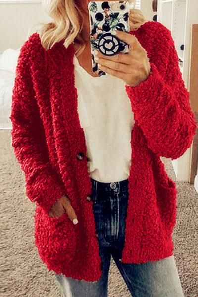 Women's woolen plus size coat