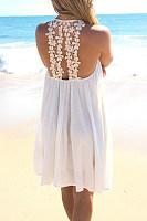 Halter  Cutout  Plain  Sleeveless Casual Dresses