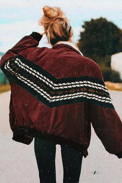 Vintage Striper Women's Cotton Jacket