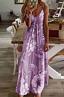 Slim Long Flower Dress