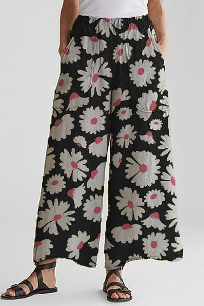 Floral Loose Casual Long Pants