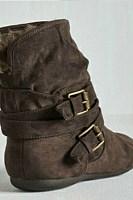 Flat Velvet Casual Plain Round Toe  Boots