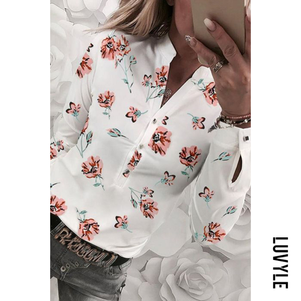 Casual | Blouse | Floral | Women | Neck
