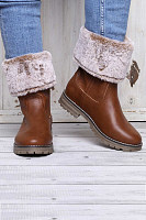 Fashion thick solid color warm Martin boots