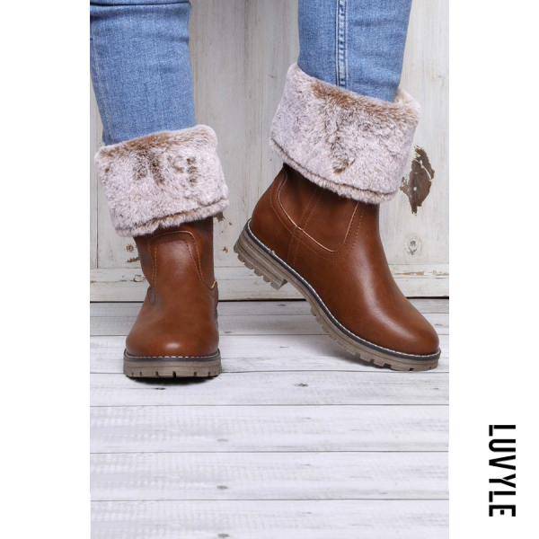 Fashion thick solid color warm Martin boots - from $49.00