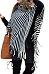 Cowl Neck  Striped  Tassel Cape  Sweaters