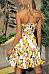 Strapless  Printed  Sleeveless Skater Dresses