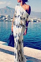 Sexy Fashion Floral Print Maxi Dress