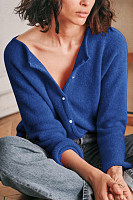 V Neck Plain Casual Sweater