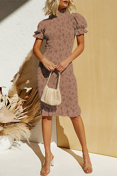 Fashion Print Short Sleeve Dress