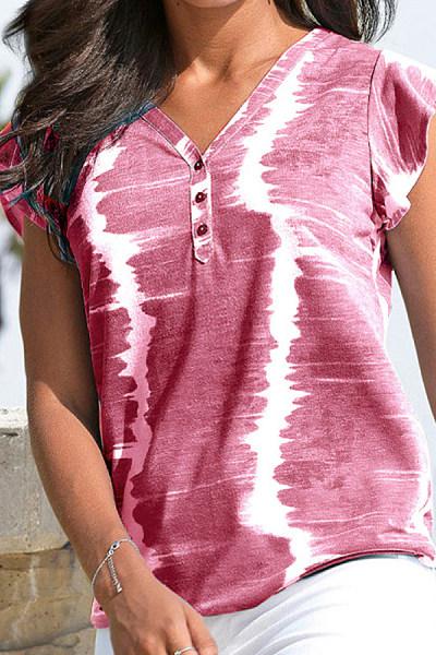 Tie-dye Printed Short Sleeve T-shirt