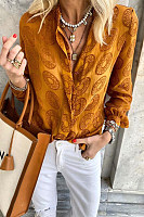 Fashion printed casual long sleeve shirt