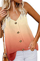 Spaghetti Strap  Decorative Buttons Vests