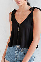 V Neck  Brief  Plain Camis
