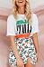 Slit  Printed  Basic Skirts