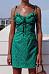 Spaghetti Strap  Printed  Sleeveless Bodycon Dresses