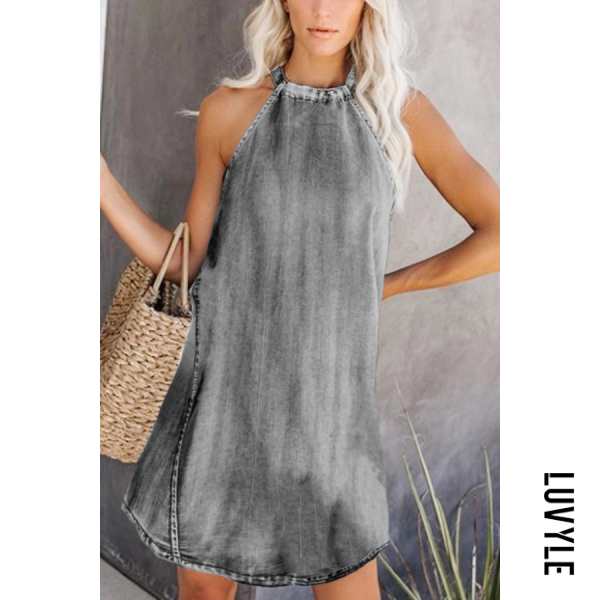 Gray Casual Sleeveless Pure Color Dress Gray Casual Sleeveless Pure Color Dress