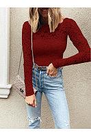 Elegant Lace Long Sleeve T-Shirts