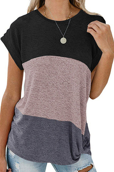 New color matching loose T-shirt