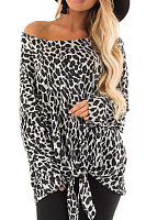 One Shoulder  Leopard T-Shirts