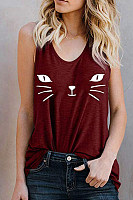 Spaghetti Strap  Animal Prints Camis