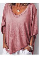 Peach Heart Tie Bat Sleeve T-Shirt