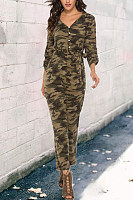 Women Casual Camouflage Jumpsuits