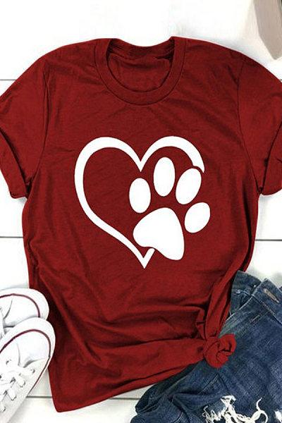 Love Print Short Sleeve T-Shirt