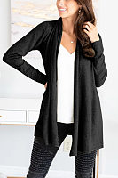 Women Casual Plain Cardigans
