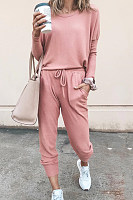 Fashion Casual Round Neck Sports Jumpsuit