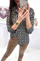 Turn Down Collar  Single Breasted  Checkered  Blouses