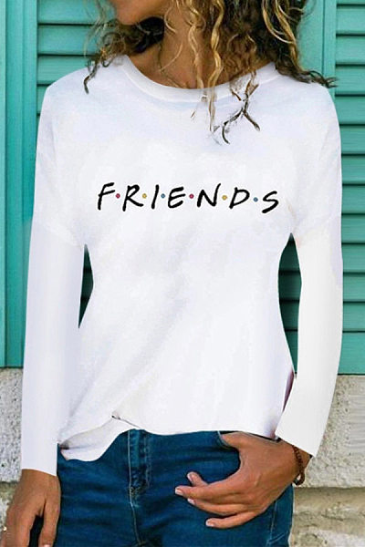 Casual Letter Long Sleeve T-Shirt