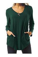 Buttoned Long Sleeve T-Shirt