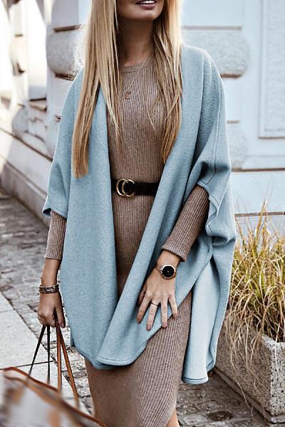 Women Plain Casual Outerwear