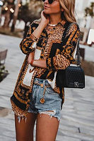 Fashion Leopard Print Long-Sleeved Shirt