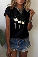 Daisy Christian Printed Round Neck T-shirt