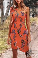 One Shoulder  Print Bodycon Dresses