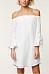 Open Shoulder  Asymmetric Hem  Plain  Three Quarter Sleeve Casual Dresses
