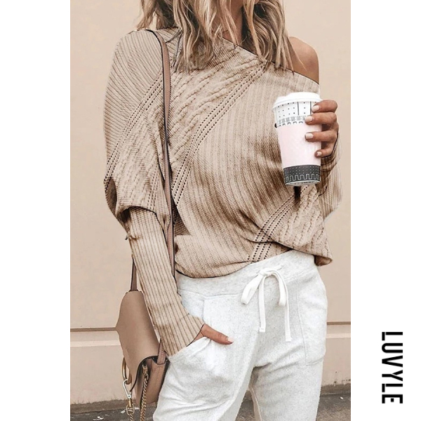 Women's casual one-neck twist sweater - from $28.00
