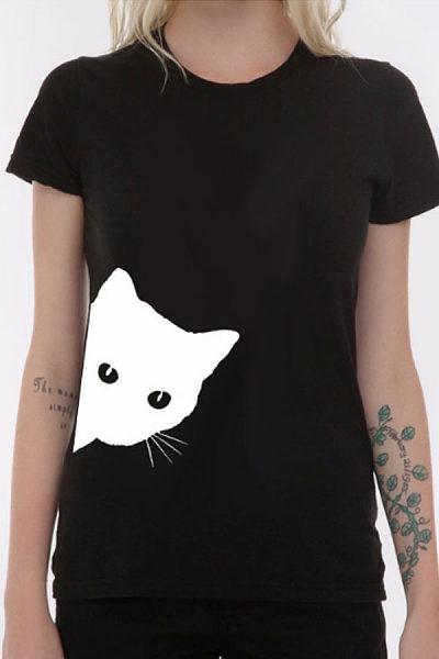 Round Neck  Print Short Sleeve T-Shirts