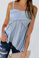 Casual Cross Ruffled Suspenders Vests