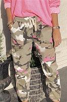 Elasticated Camouflage Women's Pants