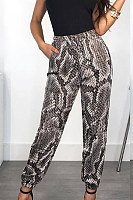 Animal Printed  Casual Pants