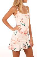 Spaghetti Strap  Asymmetric Hem  Tiered  Floral Printed  Sleeveless Casual Dresses