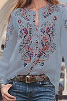 Casual Printed Long Sleeve Shirt