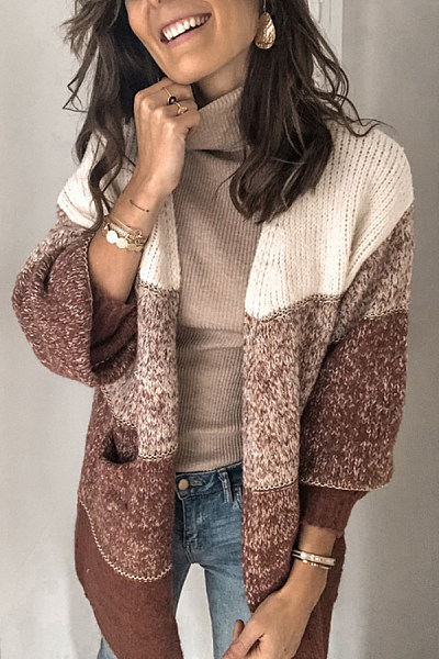 Colouring Knit Casual Sweater