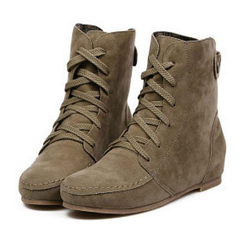 Casual Criss Cross Flat Boots