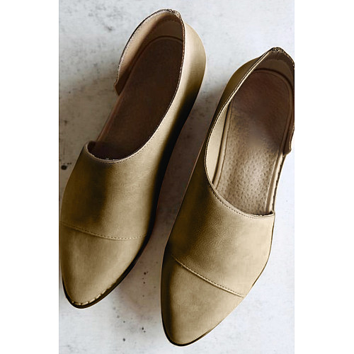 Fashion Retro Pointed Shallow Flat Sole Flats